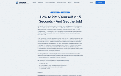 How to Pitch Yourself in 15 Seconds – And Get the Job!
