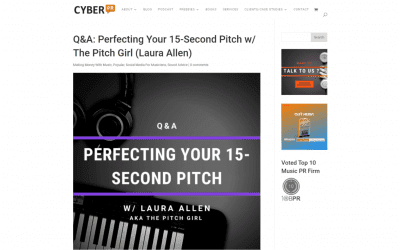 Cyber PR Q&A: Perfecting Your 15-Second Pitch w/ The Pitch Girl (Laura Allen)