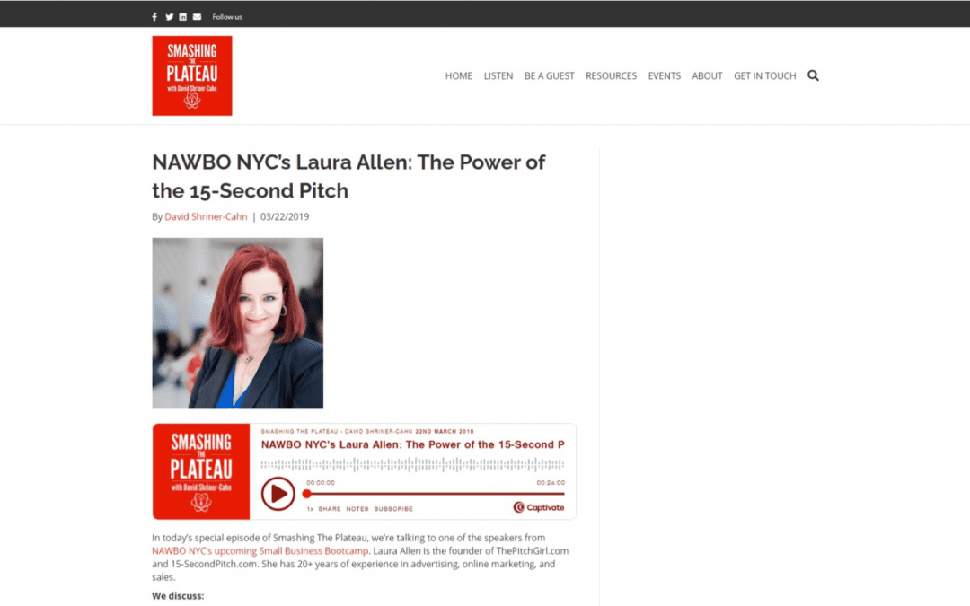 NAWBO NYC's Laura Allen: The Power of the 15-Second Pitch