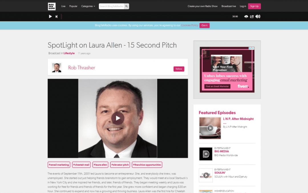 SpotLight on Laura Allen – 15 Second Pitch