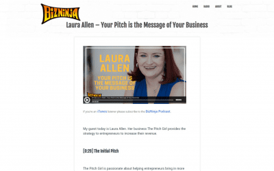 Laura Allen – Your Pitch is the Message of your Business